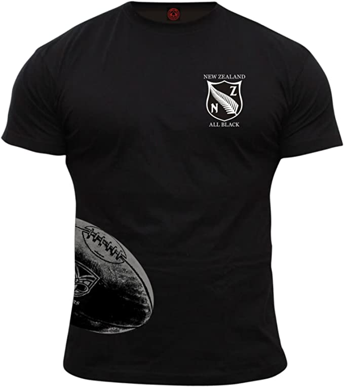 camiseta all blacks algodon