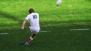 pateando en rugby